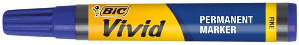 Bic Vivid Permanent Fine Marker Blue -