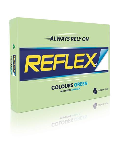 Reflex Copy Paper Tints A4 80gsm Ream of 500 Sheets - Green -