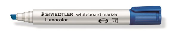 Staedtler Lumocolour Whiteboard Marker Chisel Tip Blue -