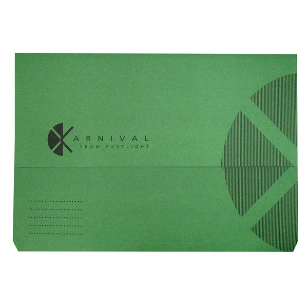Eastlight Karnival Document Wallet Foolscap Emerald Green - pr_1702412