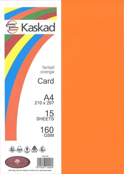 Kaskad Card A4 160gsm Fantail Orange Pack 15 - pr_1704445