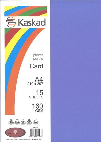 Kaskad Card A4 160gsm Plover Purple Pack 15 - pr_1704441