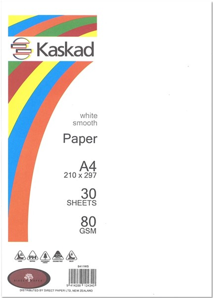 Kaskad Paper A4 80gsm White Smooth Pack 30 - pr_1704443
