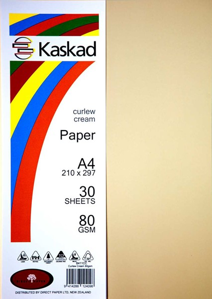 Kaskad Paper A4 80gsm Curlew Cream Pack 30 - pr_1702174