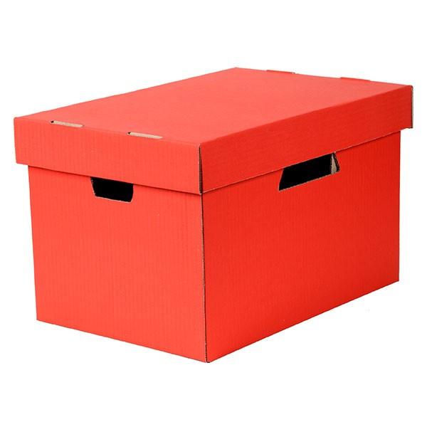 Esselte Archive Storage Box & Lid Red -