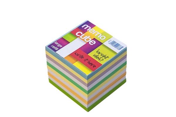 Memo Cube Large Refill Coloured -