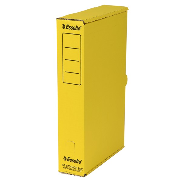 Esselte Storage Box Foolscap Yellow -