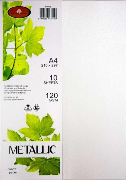 Metallic Paper A4 120gsm Quartz Pack 10 -
