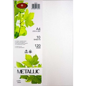 Metallic Paper A4 120gsm Quartz Pack 10
