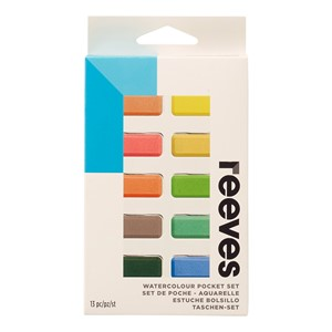 Reeves Water Colour Paint Set 10ml Pack 12