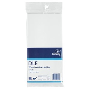Croxley Envelopes DLE Seal Easi Window White Pack 100
