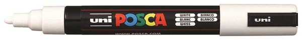 Uni Posca Marker 1.8-2.5mm Med Bullet White -