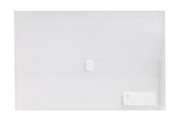 Marbig Polypick Document Wallet Foolscap Clear -