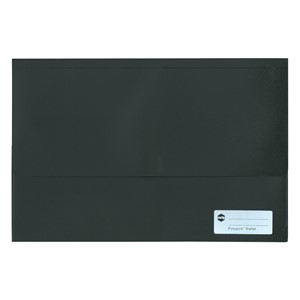 Marbig Polypick Foolscap Document Wallet A4 Solid Black