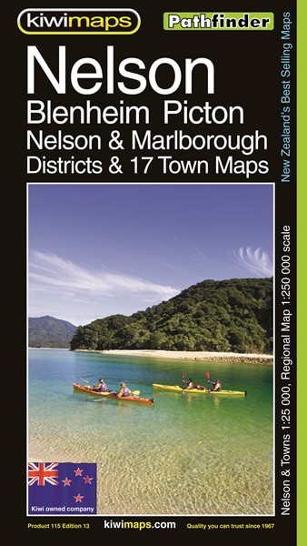 Pathfinder Nelson, Blenheim & Picton. Nelson & Marlborough Districts & 17 Town Maps - pr_1701013