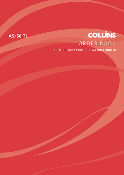 Collins Goods Order Book A5/50 TL Triplicate 50 Pages - pr_1772907