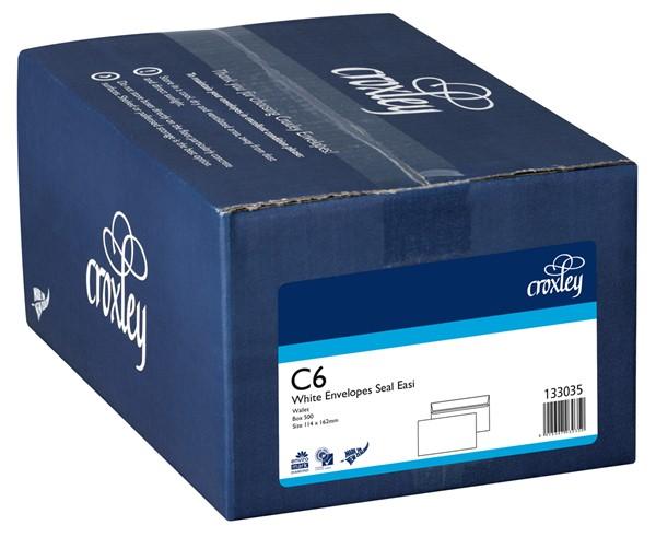 Croxley Envelopes C6 Seal Easi Non Window White Box 500 - pr_400697
