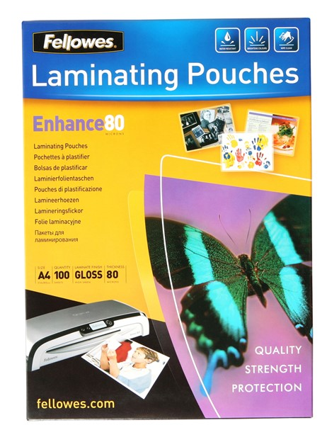 Fellowes Laminating Pouch A4 80 Micron Pack 100 - pr_400700