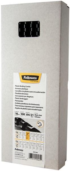 Fellowes Plastic Binding Combs 10mm Pack 100 - pr_1721284