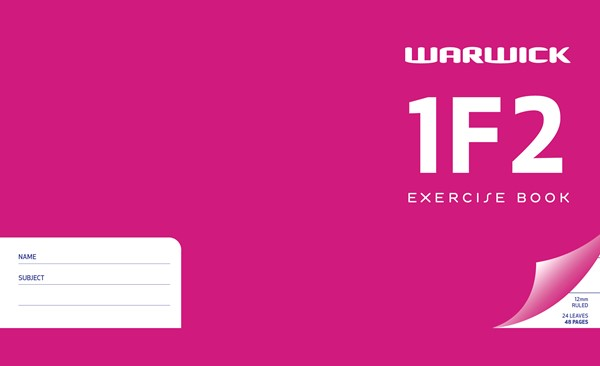 Exercise Book Warw 1F2 12mm Ruled 24lf - pr_400701