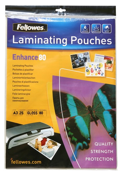 Fellowes Laminating Pouch A3 80 Micron Pack 25 - pr_400705