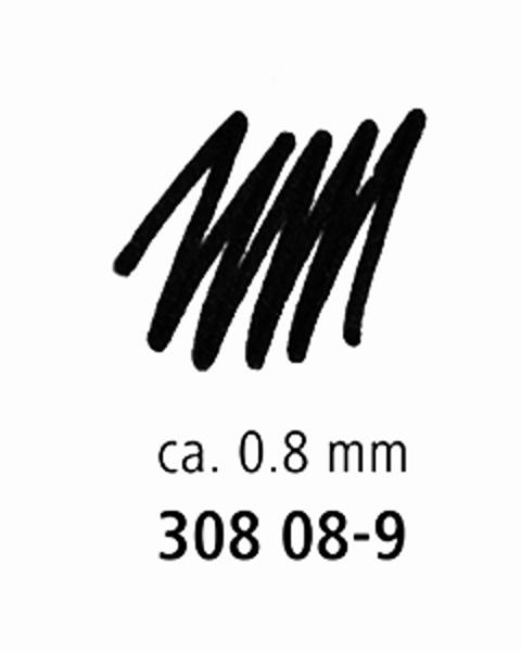 Staedtler 0.8mm Pigment Liner Felt-tip Pen - Black -