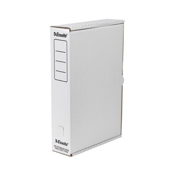 Esselte Storage Box Foolscap White -