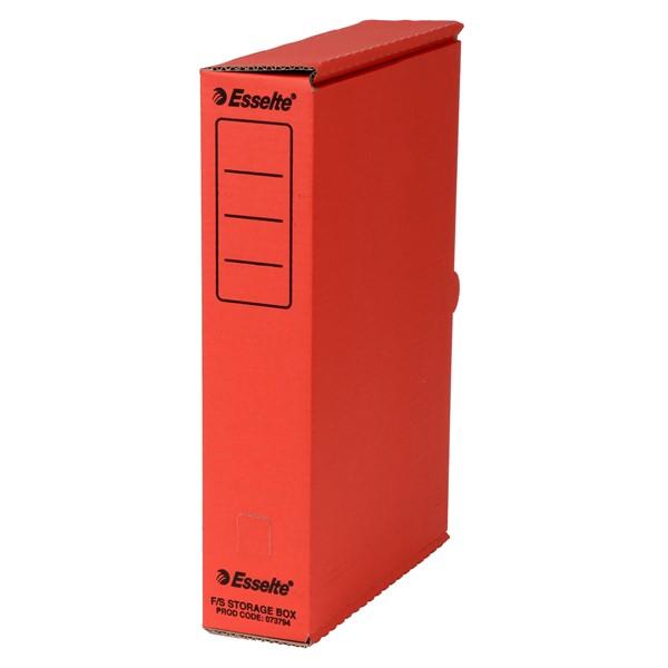 Esselte Storage Box Foolscap Red -