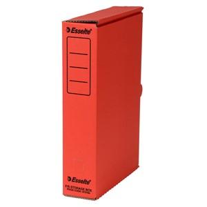 Esselte Storage Box Foolscap Red