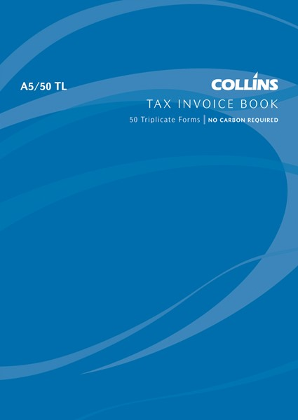 Collins Tax Invoice Book A5/50 TL Triplicate 50 Pages - pr_1772900