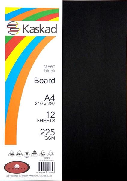 Kaskad Board A4 225gsm Raven Black Pack 12 - pr_400712