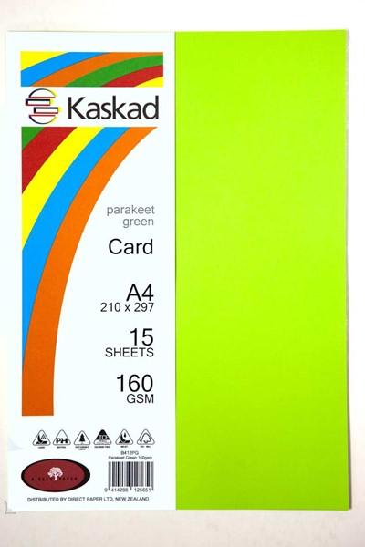 Kaskad Card A4 160gsm Parakeet Green Pack 15 - pr_1702259
