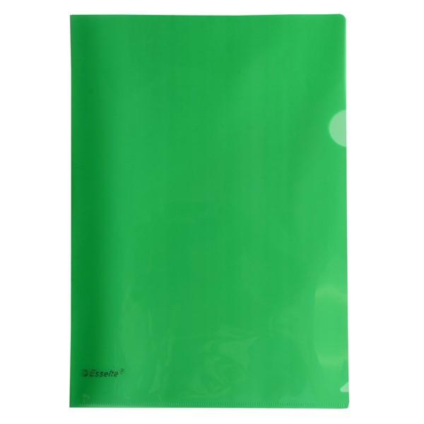 Esselte A4 L-Shaped Pockets Green 12 Pack - pr_427373