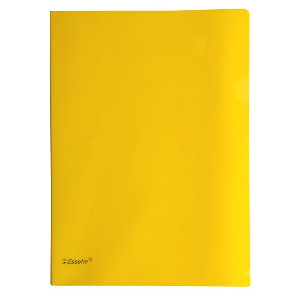 Esselte A4 L-Shaped Pockets Yellow 12 Pack - pr_427374