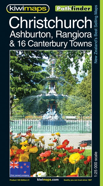 Pathfinder Christchurch, Ashburton, Rangiora & 16 Canterbury Towns Map - pr_1700992