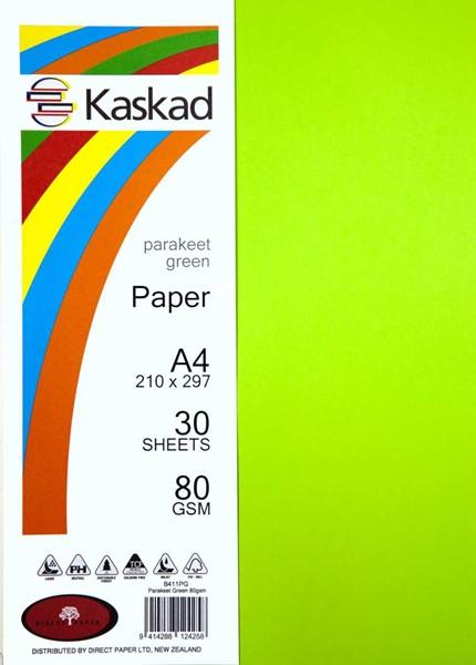 Kaskad Paper A4 80gsm Parakeet Green Pack 30 -