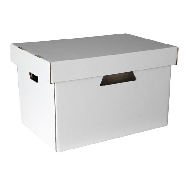Esselte Archive Storage Box & Lid White -
