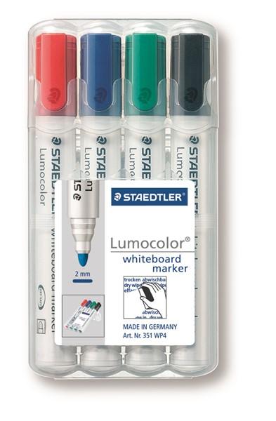 Staedtler Lumocolour Whiteboard Marker Bullet Tip Pack 4 -