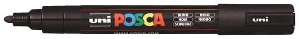 Uni Posca Marker 1.8-2.5mm Med Bullet Black -