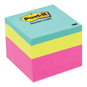 3M Post-It Notes Mini Cube 48x48mm Pink Wave