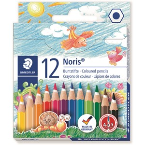 Staedtler Noris Club Coloured Pencil Classic Half Length 12Pk