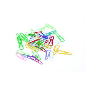Celco Paper Clips Triangular 31mm Assorted Colours Pack 200