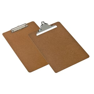 Marbig Clipboard Masonite Foolscap Brown