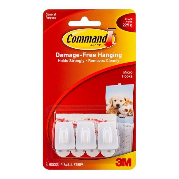 HOOKS COMMAND™ MICRO WHITE 17066 PK3 - pr_1702544