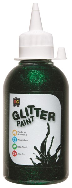 GLITTER PAINT EDVAN 250ML GREEN - pr_1774098