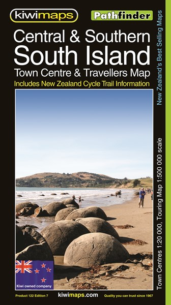 Pathfinder Central & Southern South Island Town Centre & Travellers Map - pr_1700984