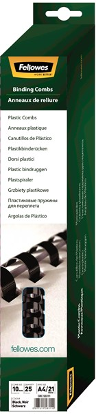 Fellowes Plastic Binding Combs 10mm Pack 25 - pr_1721267