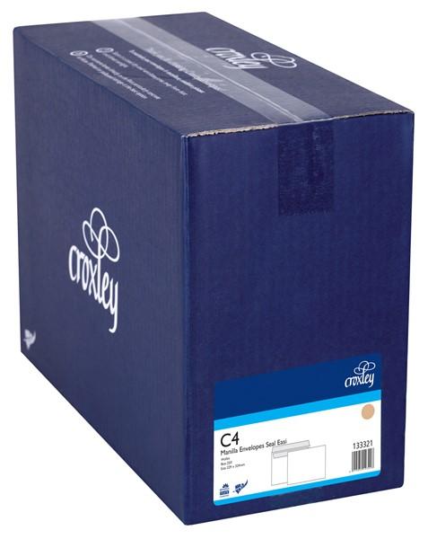 Croxley Envelopes C4 (E31) Wallet Non Window Seal Easi Manilla Box 250 - pr_400844