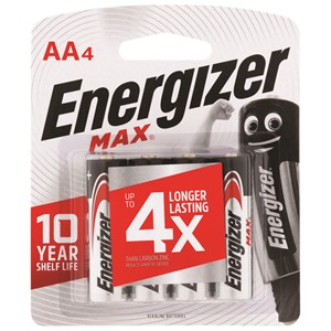 Energizer Battery Max AA Pack 4