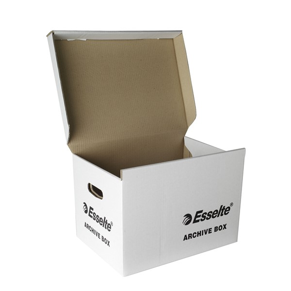 Esselte Archive Box Hinged Lid White -